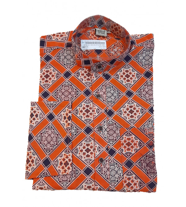 Printed Long Kurta Handloom Full Sleeve Size 40 Inch