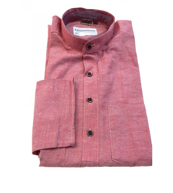 Cotton Plain Long Kurta Handloom Full Sleeve Size 38 Inch