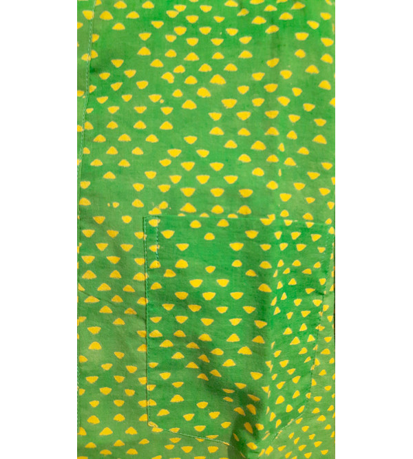 Akola Printed Short Kurta Handloom Half Sleeve Size 38 Inch