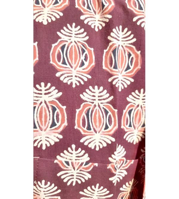 Printed Cotton Short Kurta Half Sleeve Size 42 Inch