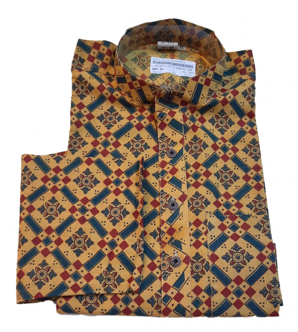 Cotton Printed Kurta Full Sleeve Size 40 Inch