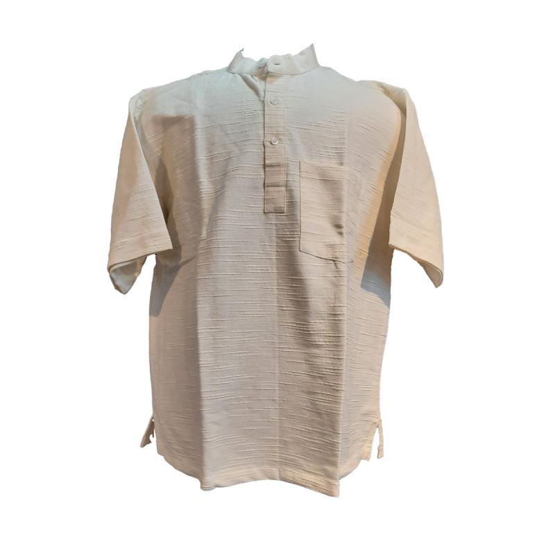 Plain Cotton Short Kurta Handloom Half Sleeve Size 48 Inch