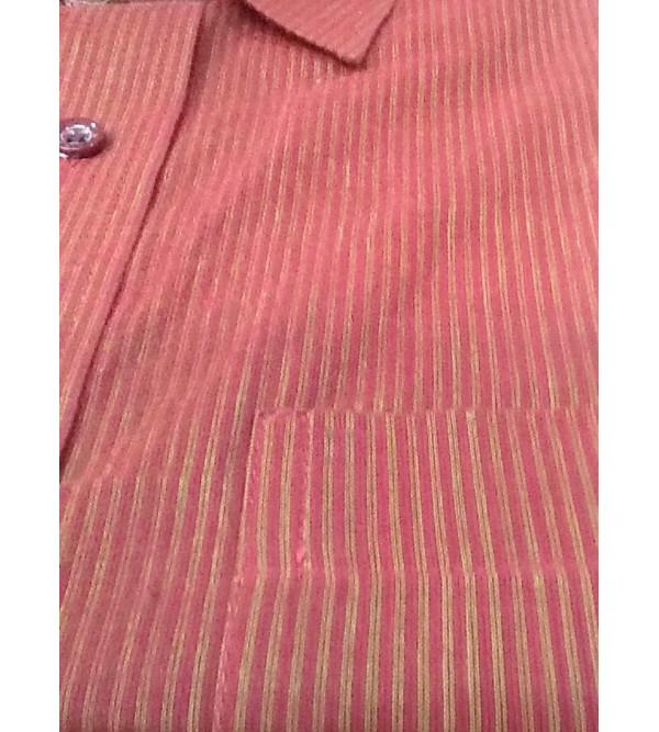 Cotton Stripe Shirt Full Sleeve Size 44 Inch