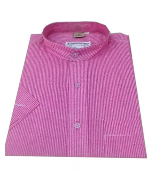 Plain Cotton Shirt Half Sleeve Size 42 Inch