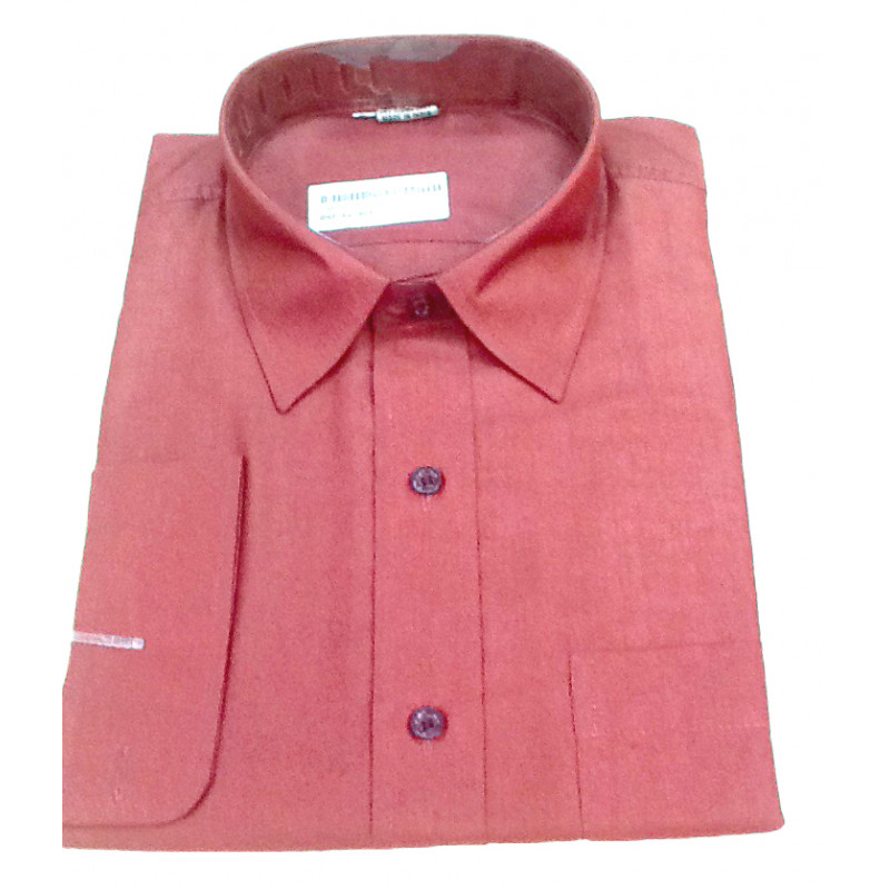 Plain Cotton Shirt Full Sleeve Size 44 Inch