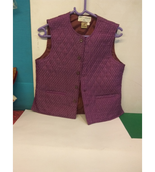 Silk Jacket With linning Size 10 to 12 Yr