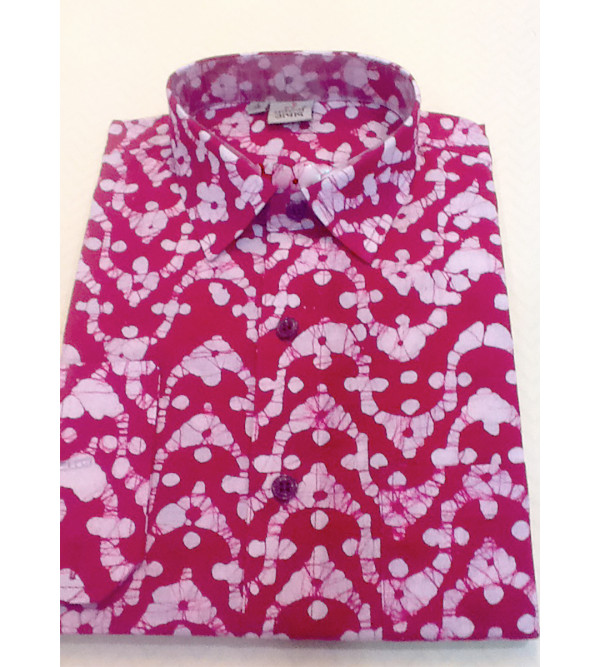 Printed Shirt Handloom Full Sleeve Size 38 Inch