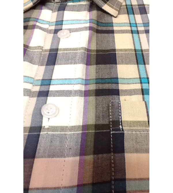 Cotton Check Shirt Full Sleeve Size 40 Inch