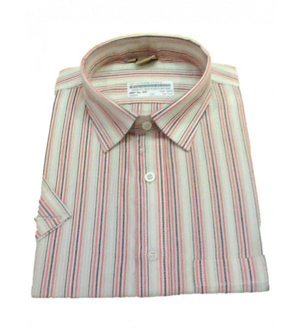 Cotton Stripe Shirt Half Sleeve Size 44 Inch