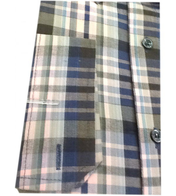 Cotton Check Shirt Full Sleeve Size 42 Inch