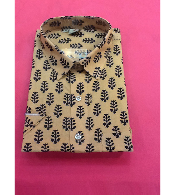 Printed Cotton Shirt Half Sleeve Size 46 Inch