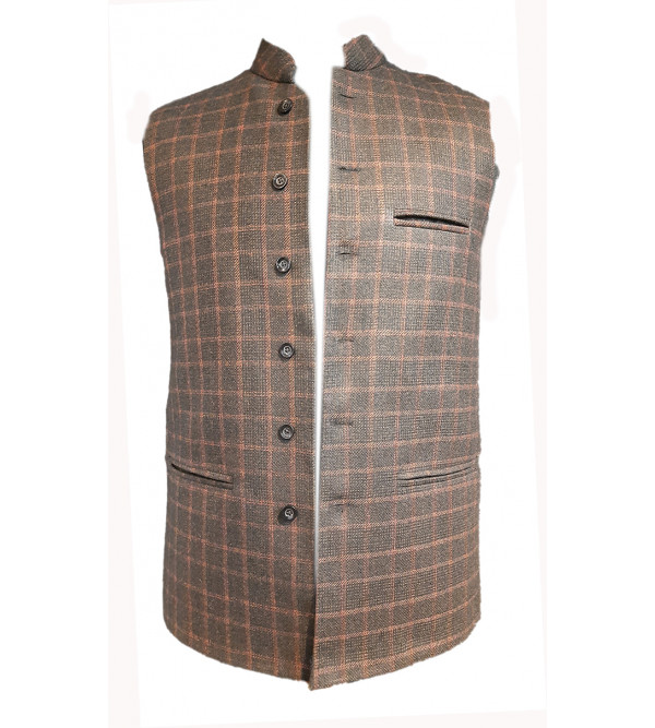 Tweed Woolen Nehru Jacket size 42 Inch