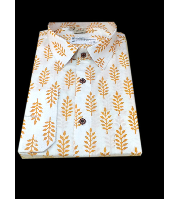 Printed Cotton Shirt Full Sleeve Size 40 Inch