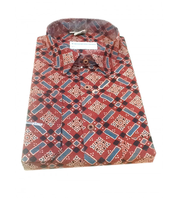 Printed Shirt Handloom Full Sleeve Size 42 Inch