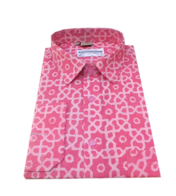 Akola Printed Shirt Handloom Full Sleeve Size 42 Inch