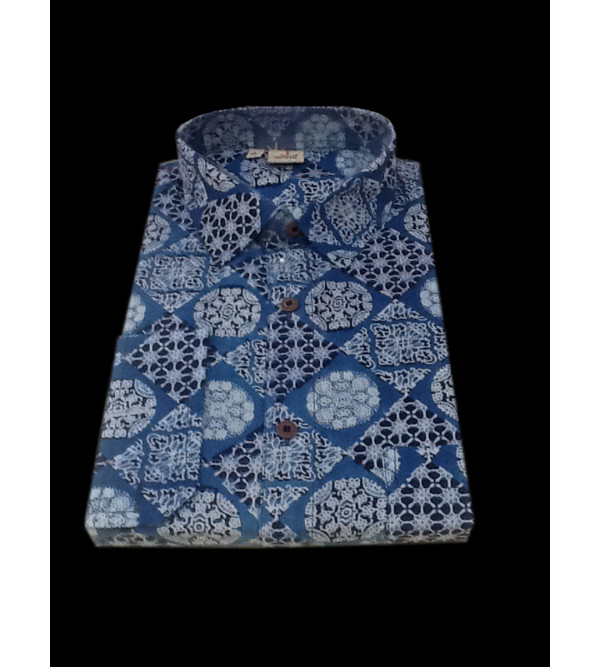 Printed Cotton Shirt Full Sleeve Size 42 Inch