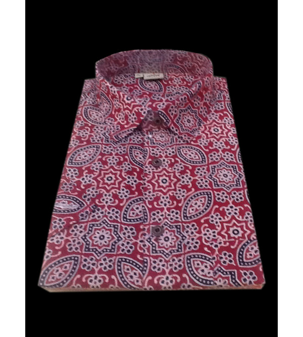 Printed Cotton Shirt Half Sleeve Size 42 Inch