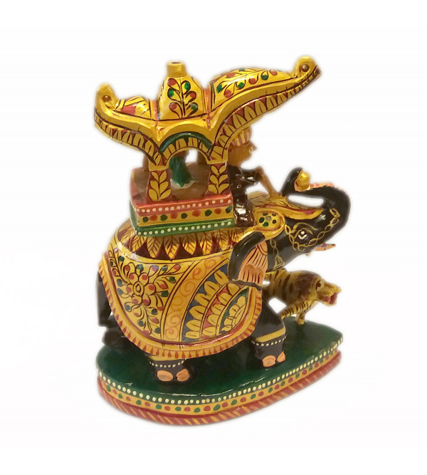 Kadamba Wood Handcrafted and Hand Painted Ambari