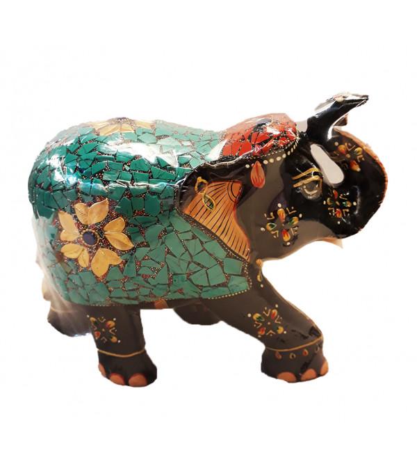 Kadamba wood Handcrafted and Hand painted Elephant