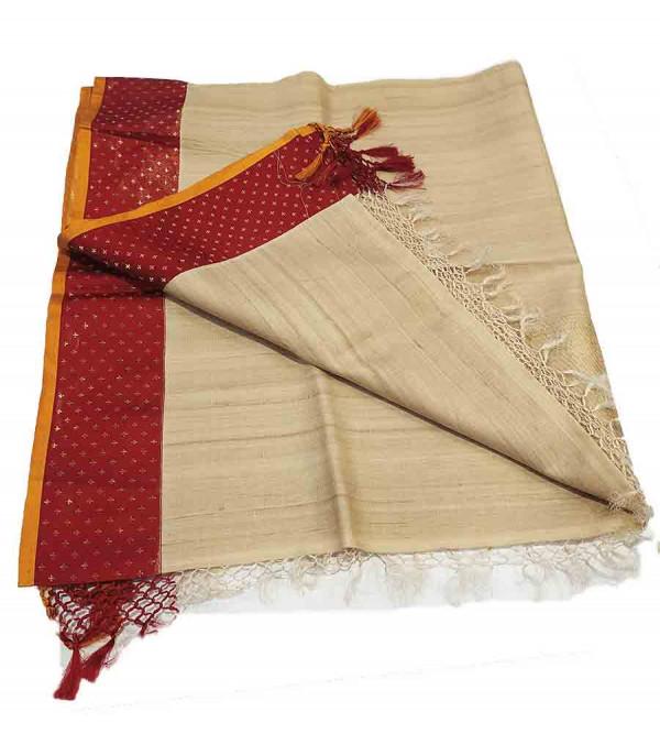 Tasar Silk Handwoven Dupatta from Banaras