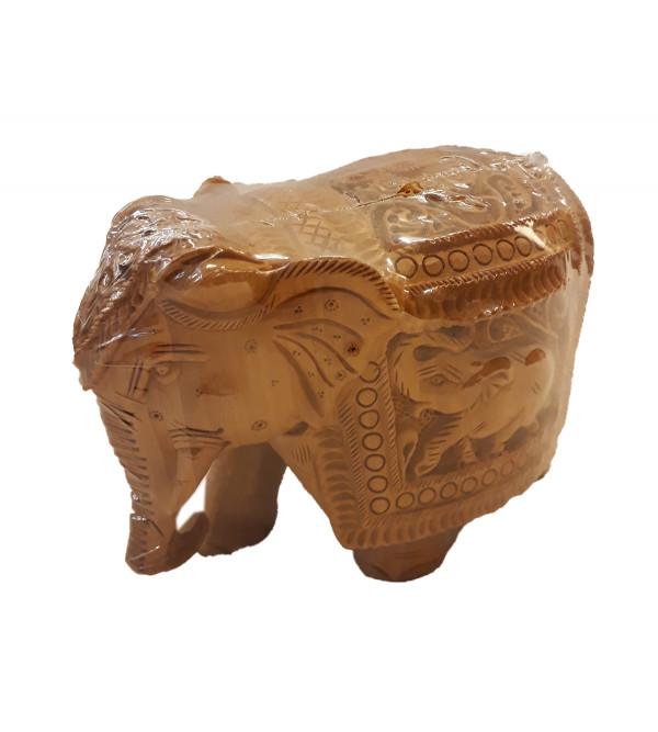 ELEPHANT CARVED SUPER FINE KADAM WOOD 4 INCH