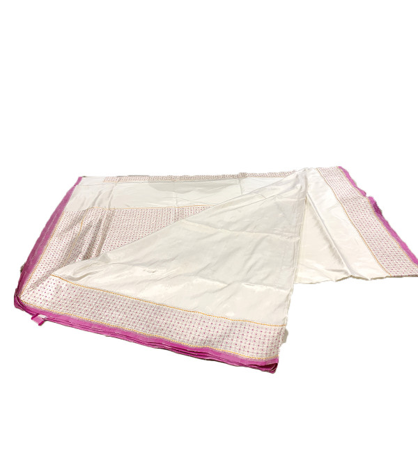 Banaras silk zari borderCFC  HANDLOOM SAREE with blouse