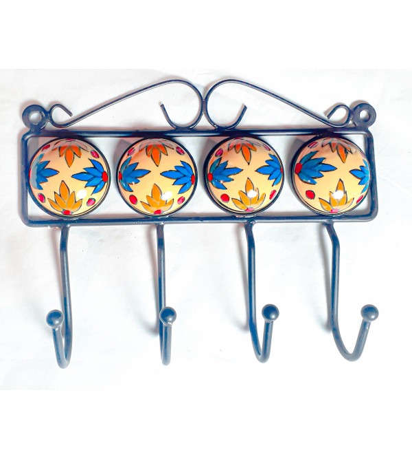 Blue Pottery Hanger Size 4 Inch