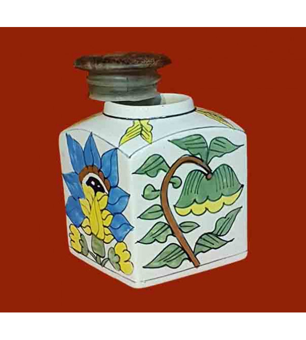 Potter Painted Jar Size 4 Inch