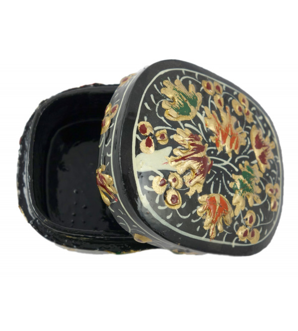 HANDICRAFT ASSORTED PILL BOX PAPER MACHE 3 INCH