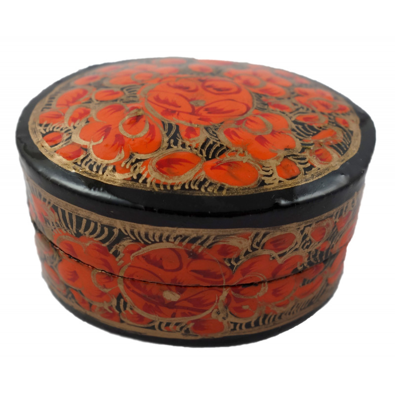 HANDICRAFT ASSORTED RING BOX PAPER MACHE 1 INCH