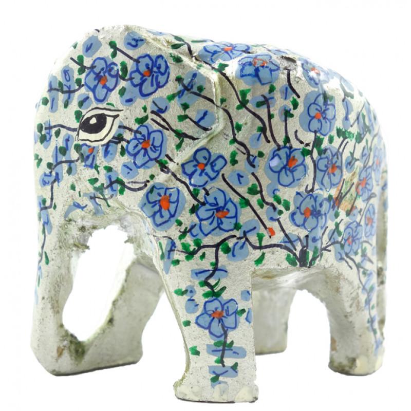 HANDICRAFT ASSORTED ELEPHANT  PAPER MACHE 2 INCH WOOD
