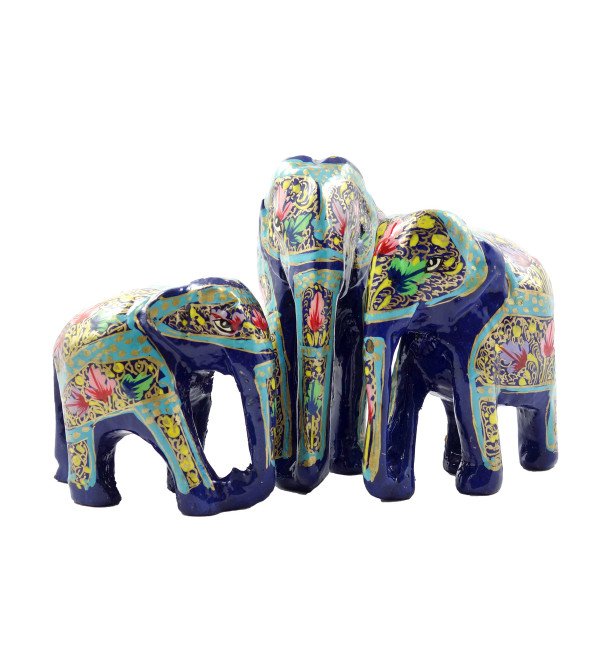 HANDICRAFT ASSORTED ELEPHANT  PAPER MACHE 5 INCH