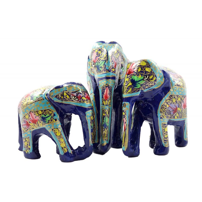 HANDICRAFT ASSORTED ELEPHANT  PAPER MACHE 5 INCH