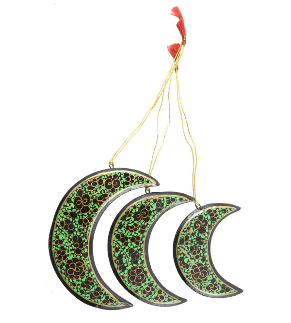 Papier Mache Handcrafted Moon Set For Christmas Decoration