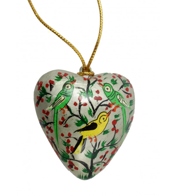 HANDICRAFT ASSORTED HEART  PAPER MACHE 1 INCH