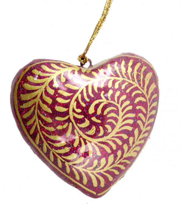 HANDICRAFT ASSORTED HEART  PAPER MACHE 3 INCH