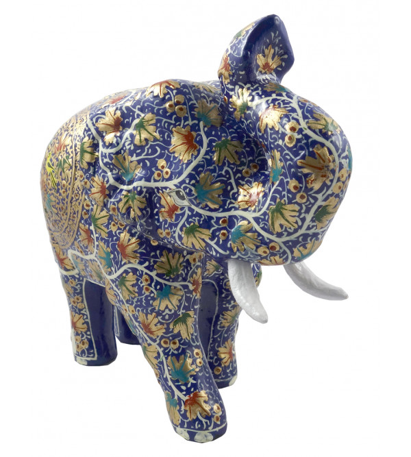 HANDICRAFT ASSORTED ELEPHANT  PAPER MACHE 8 INCH