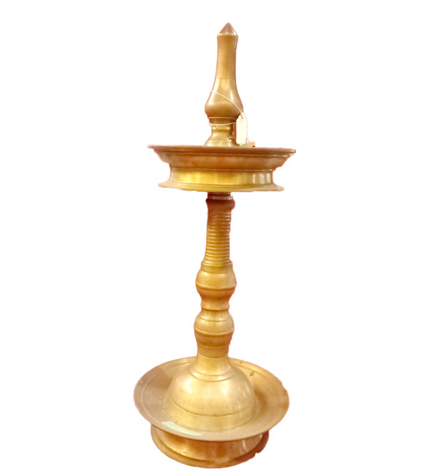 Oil Lamp Handcrafted In Brass Size 24 Inches