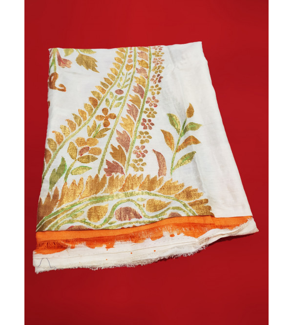 Muga Silk Handwoven Dupatta from Banaras