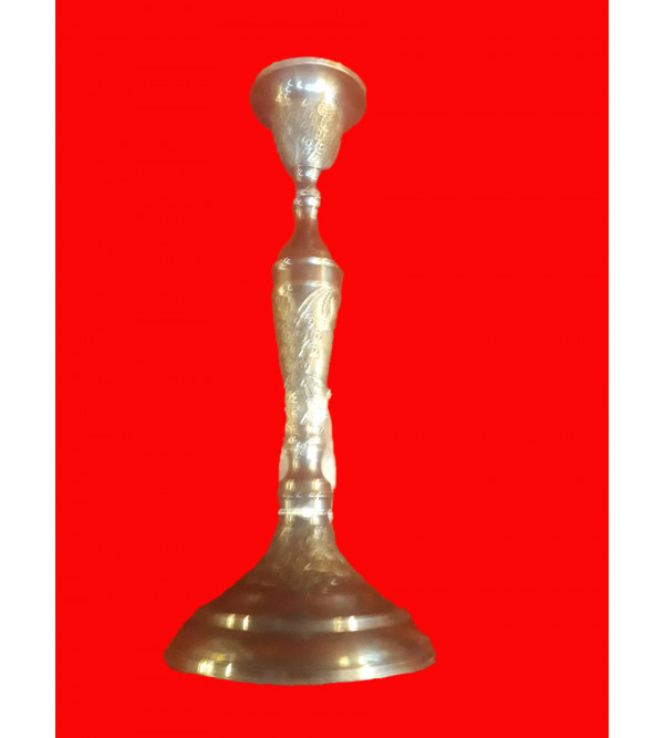 CANDLE STAND BRASS 9.5 INCH