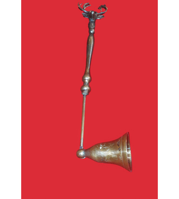 CANDLE SNUFFER BRASS COPPER FINISH 12 INCH