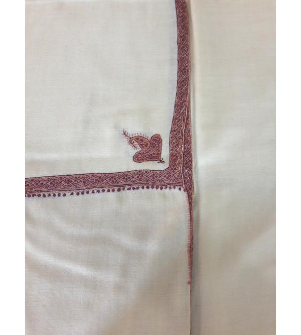 Pashmina Shawl Hand  Embroidered in Kashmir Size,40X80 Inch