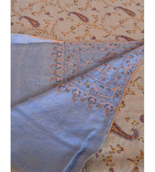 Pashmina Shawl Hand Woven in Kashmir Stripes Size,40X80 Inch