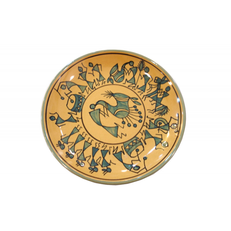 HANDICRAFT  PLATE KHURJA POTTERY QUARTER