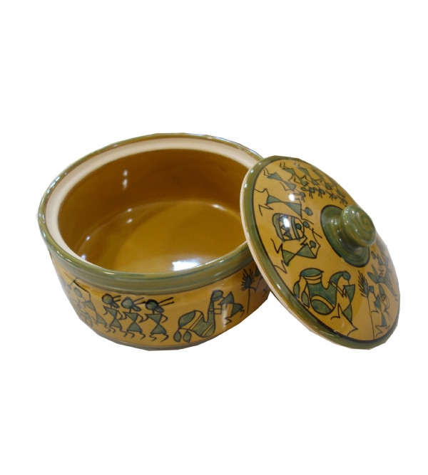 BOWL  KHURJA POTTERY SOUP  SPOON