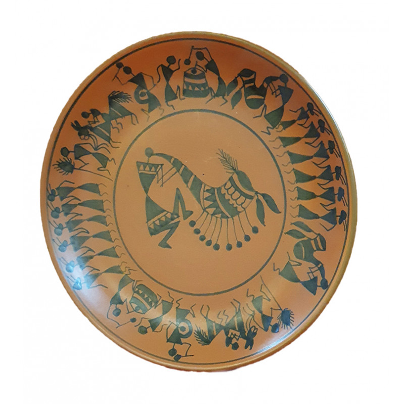 Terracotta Pottery Full Plate Size 10.5 Inch