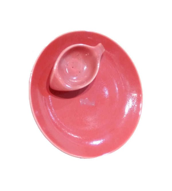 Handcrafted Khurja Pottery Snack Plate Size 9 Inch