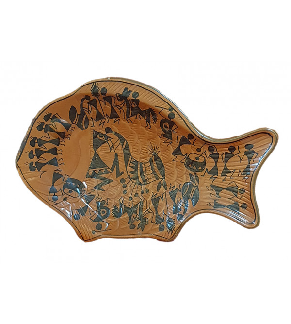 Terracotta Fish Plate Size 5.5x11 Inch