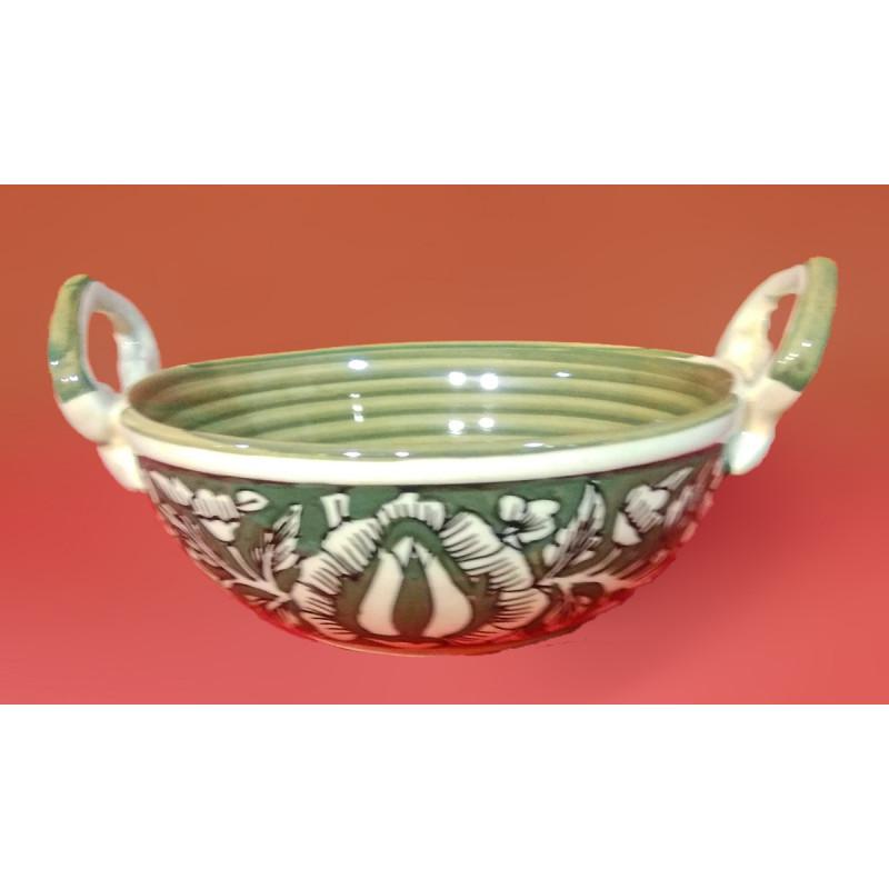 Handcrafted Khurja Pottery Kadai Size 7 Inch
