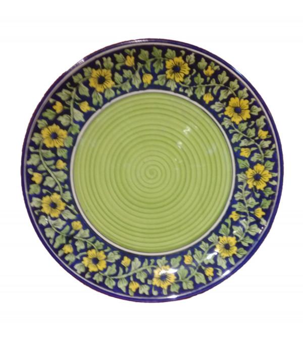Handcrafted Khurja Pottery Full Plate Size 10.5 Inch